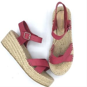 Chase+Chloe Pink Espadrille Sandals 8.5 Wedge